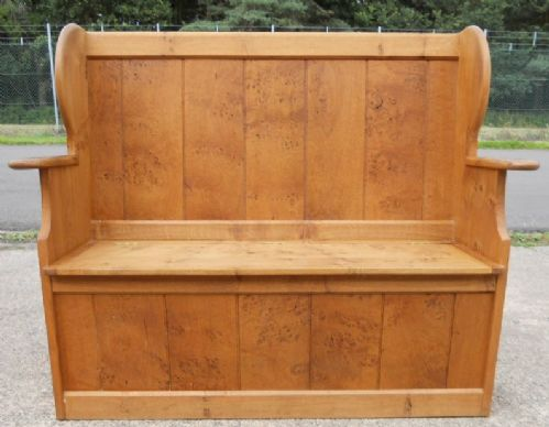 Pine Hall Settle, Bench, Storage Seat